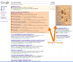 Google Places Listings in Search Results