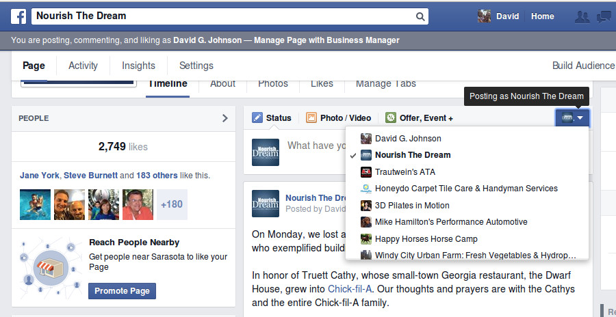 Facebook: New tool to select who is Posting