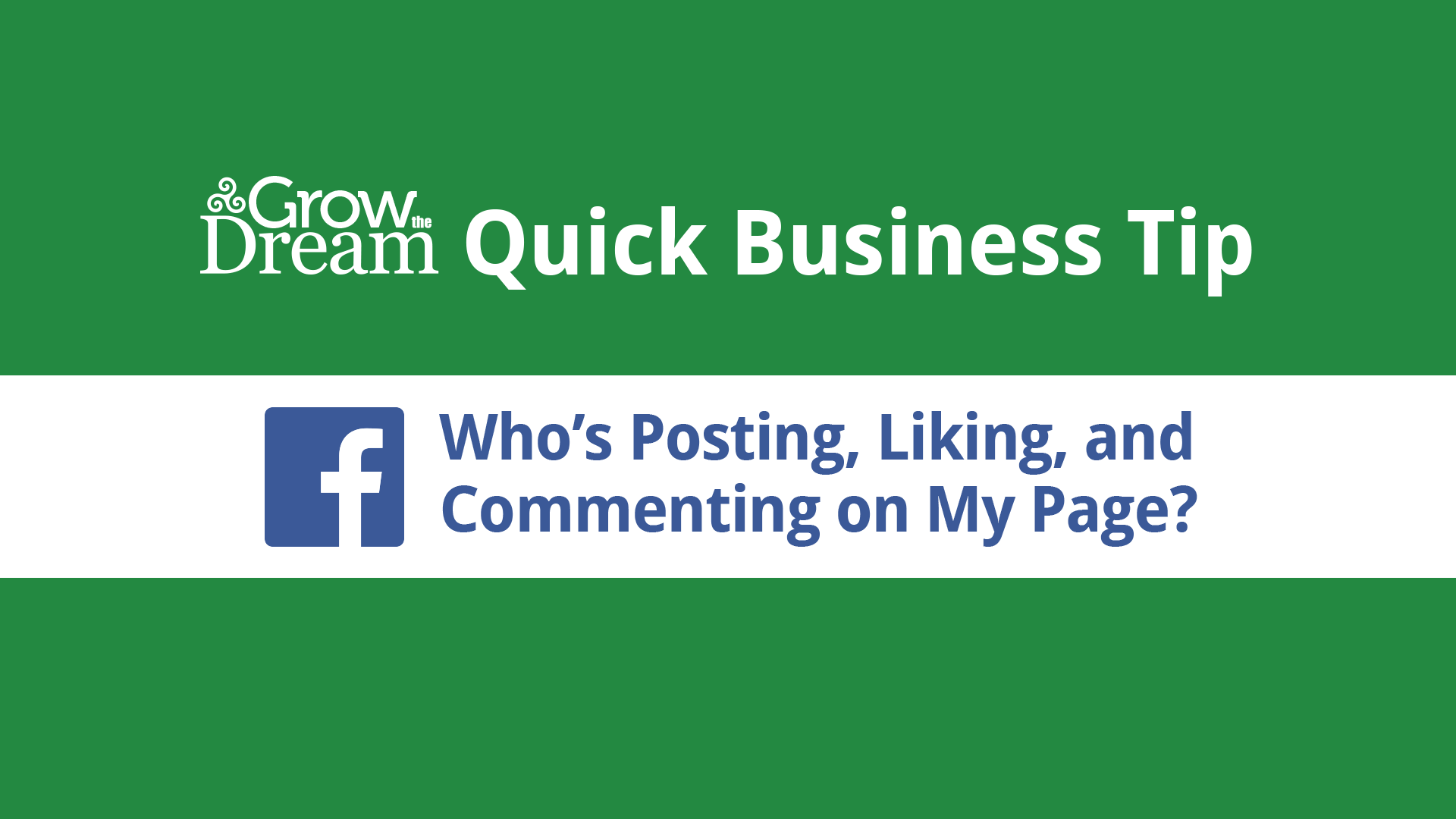 [Video] Facebook: Posting as Your Page vs. Posting as Yourself