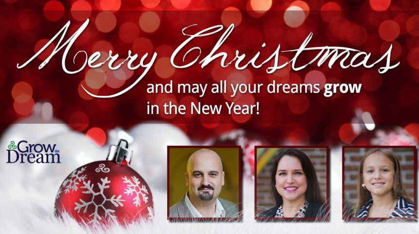 Merry Christmas from Grow The Dream 2014