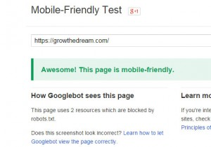 Google Mobile-Friendly Test Result