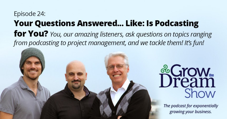 Episode 24: Your Questions Answered... Like: Is Podcasting for You?