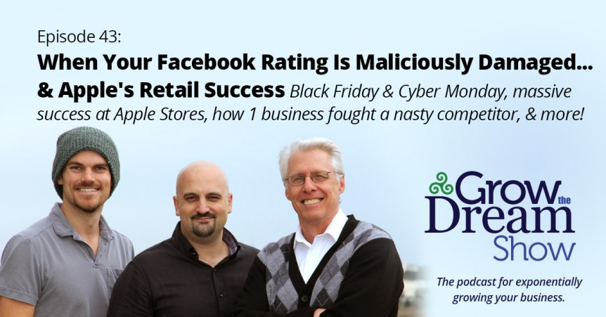 Episode 43: When Your Facebook Rating is Maliciously Damaged... and Apple's Retail Success