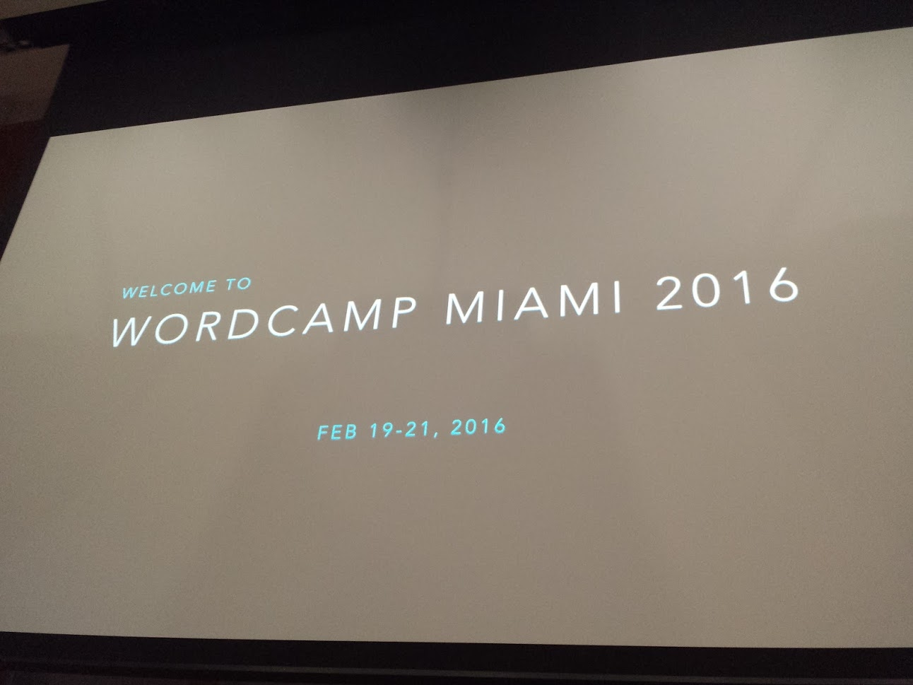 Welcome to WordCamp Miami 2016 - Opening Remarks