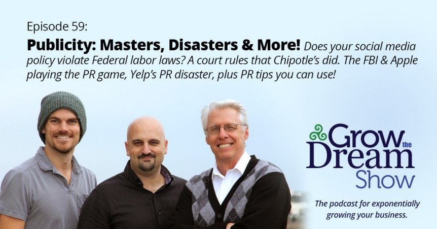 Episode 59: Publicity - Masters, Disasters and More!
