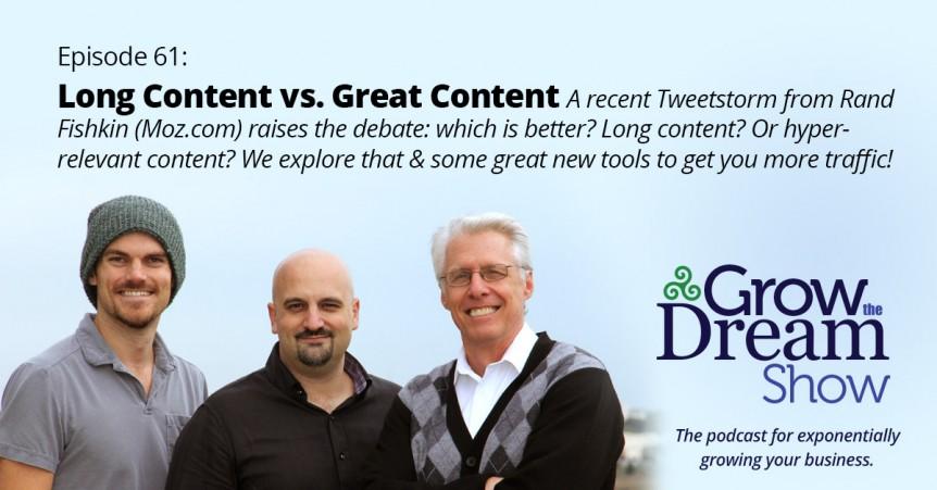 Episode 61: Long Content vs. Great Content
