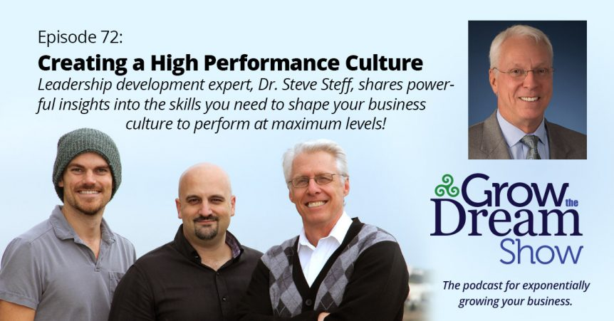 Episode 72: Dr. Steve Steff on Creating a High Performance Culture