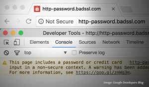 Not Secure Warning: Google Developers Blog