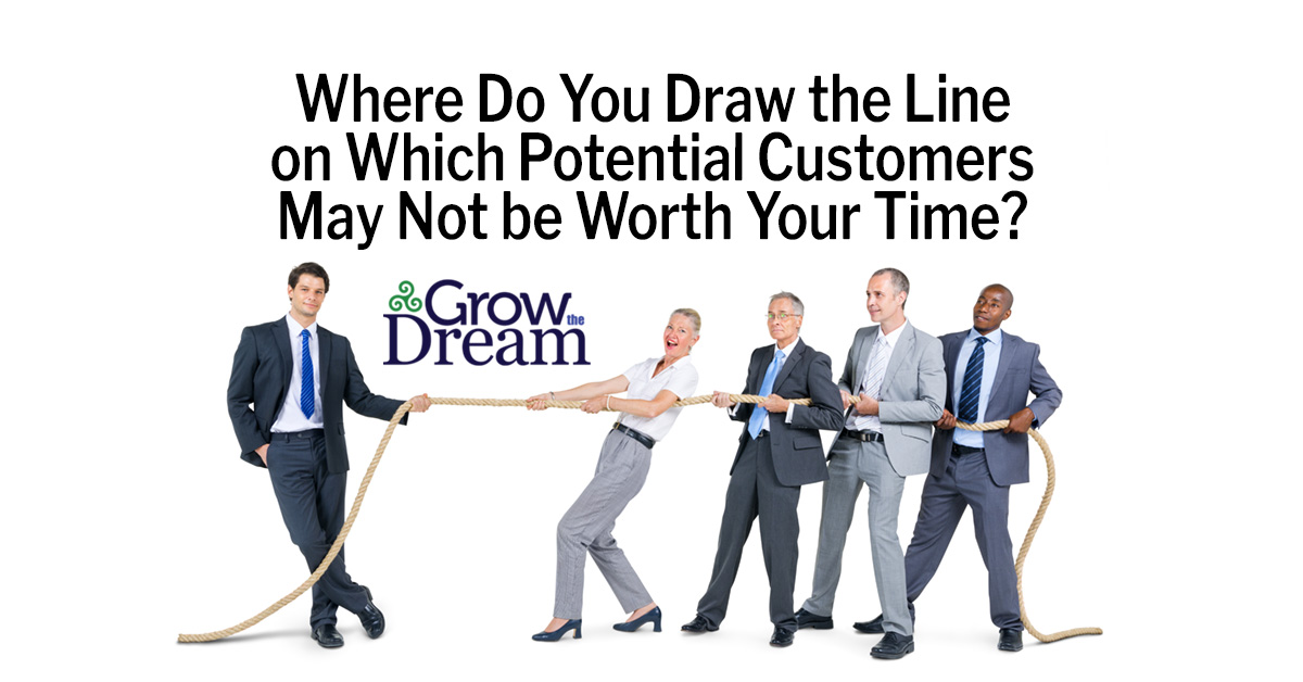 What's the Threshold Below Which a Potential Customer Would be Better Off Left to Competitors?
