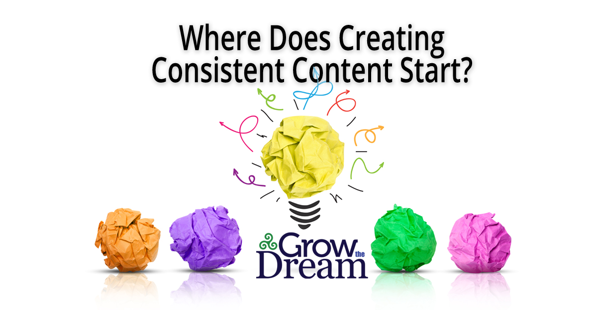 Where Does Creating Consistent Content Start?